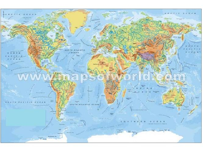 Deluxe PureZone World Map Large Print - Large world map print out