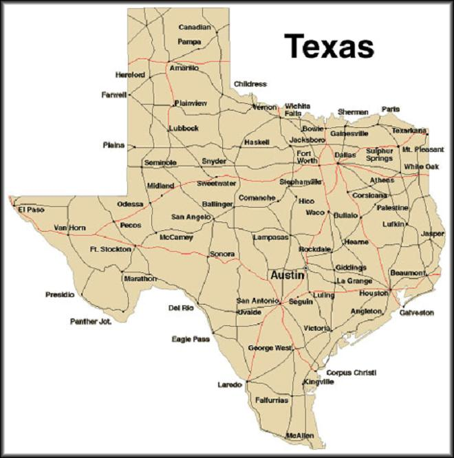 This is a photo of Simplicity Printable Maps of Texas