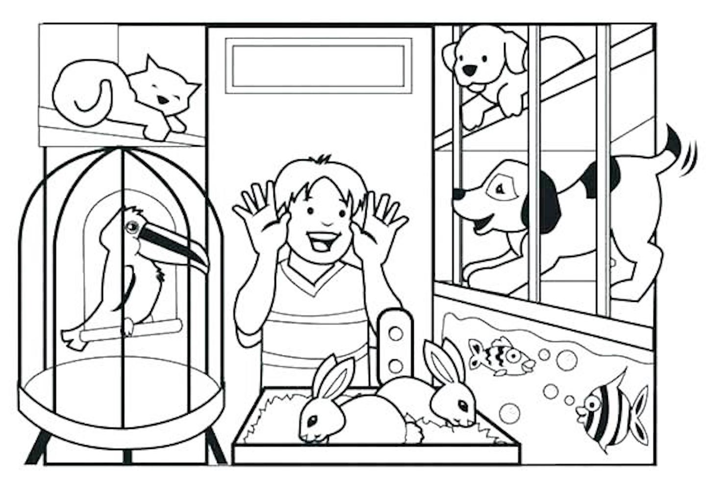 Pet Animal Coloring Pages And Dozens More Themed Coloring ...