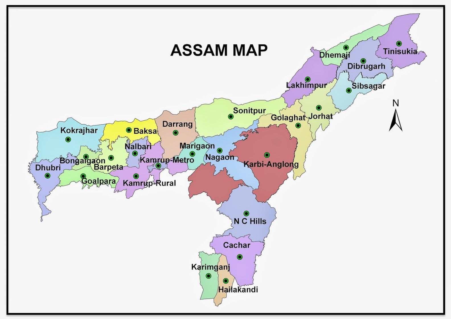 Assam Map And 100 More Free Printable International Maps