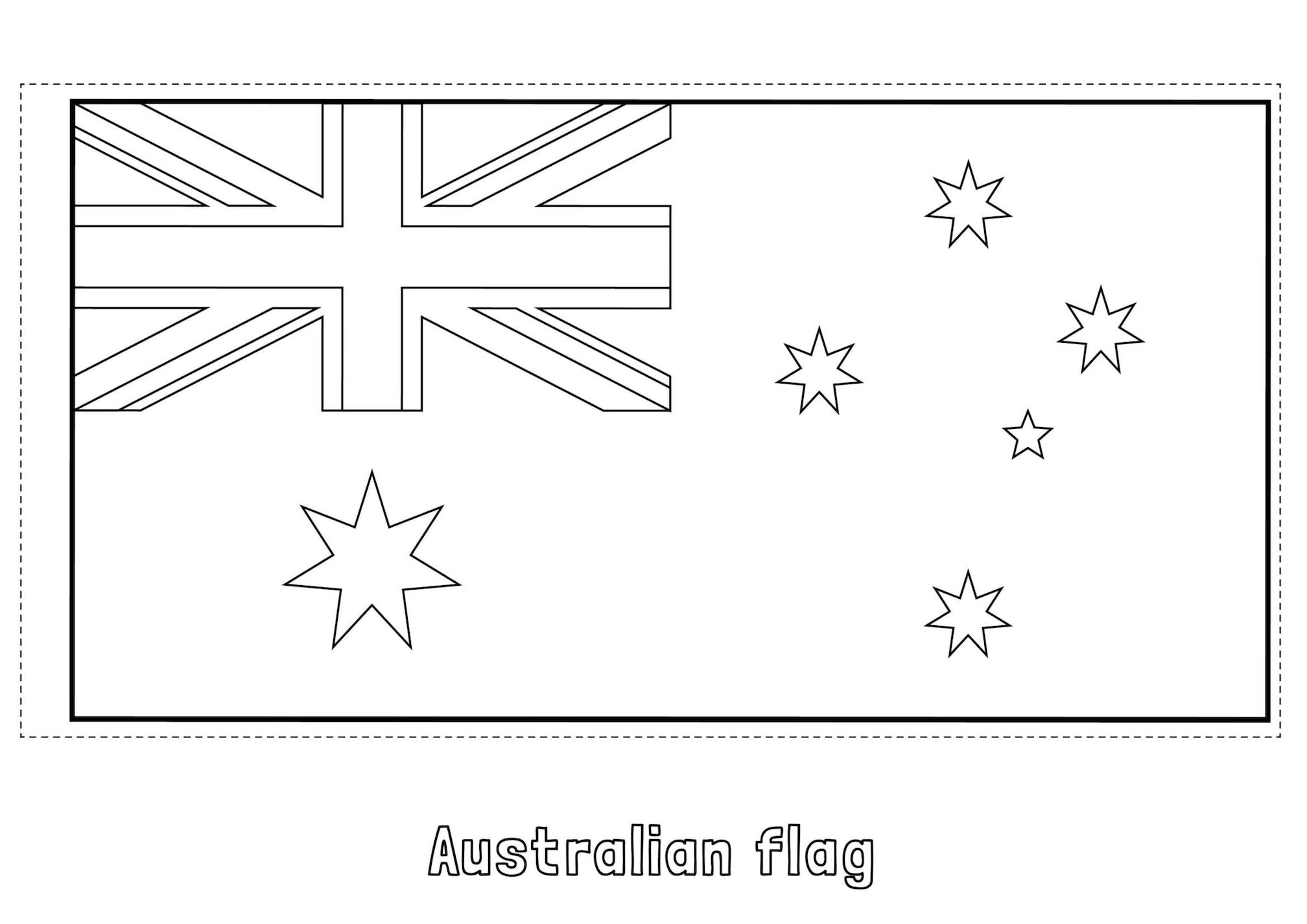 Print australian flag free coloring pages | Flag coloring pages ... | 1426x2016