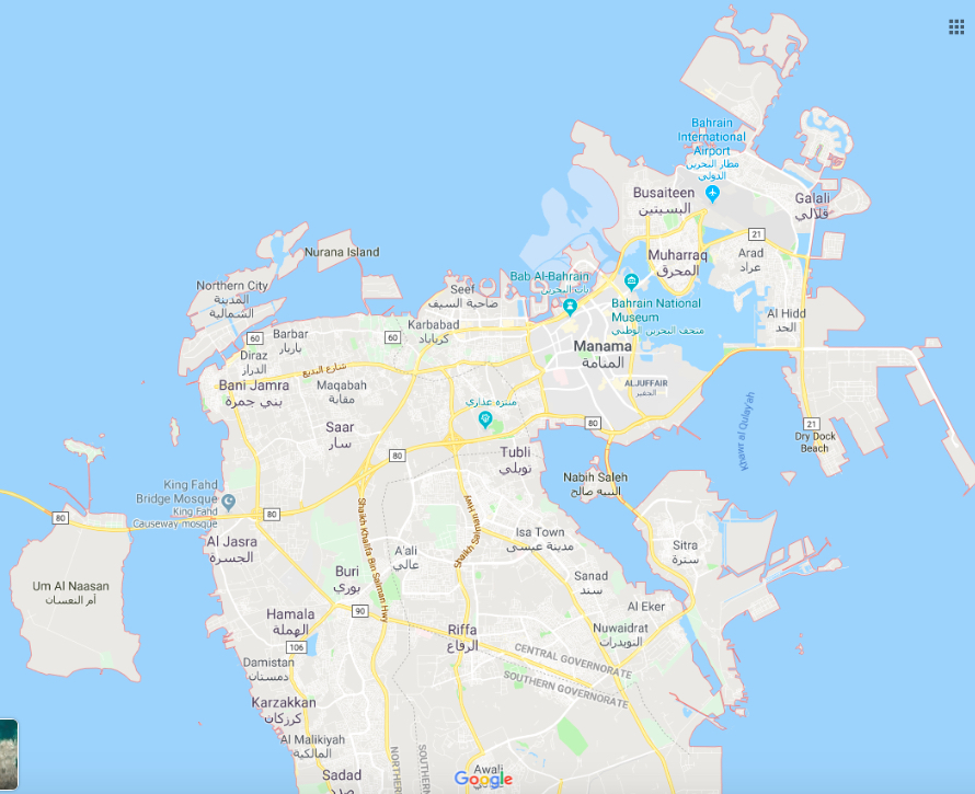 Bahrain Map And Other Free Printable International Maps