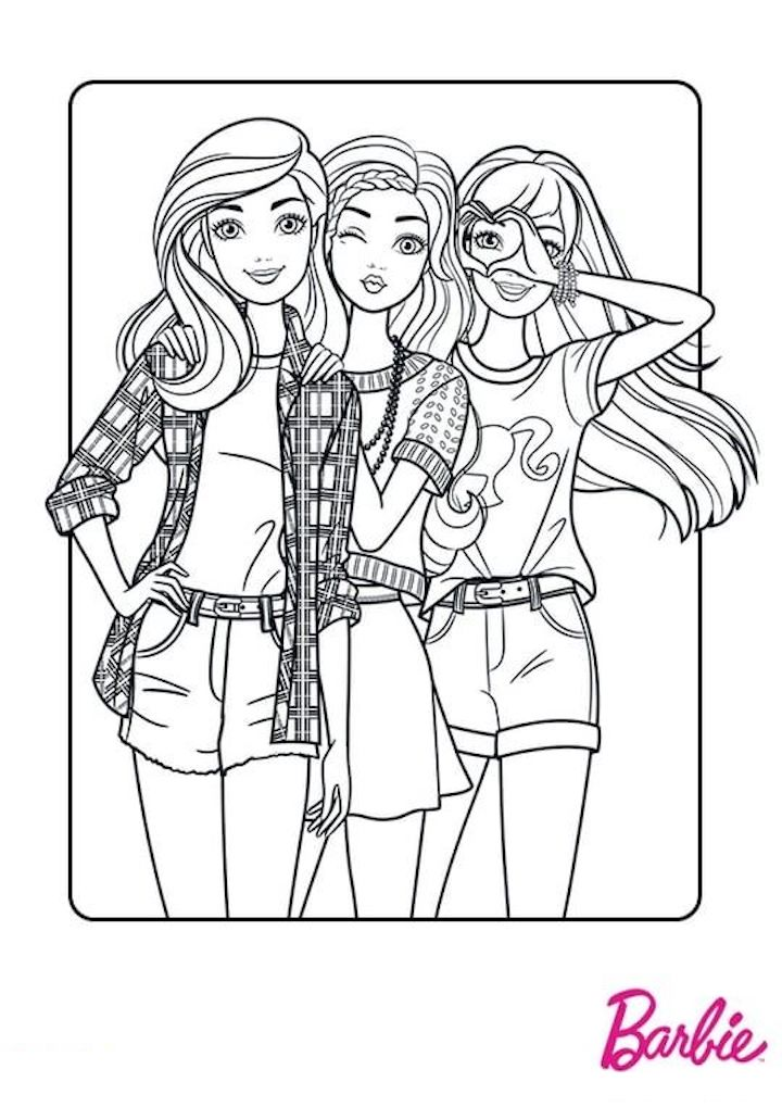 New Barbie Coloring Pages And Other Top 10 Themed Coloring Challenges