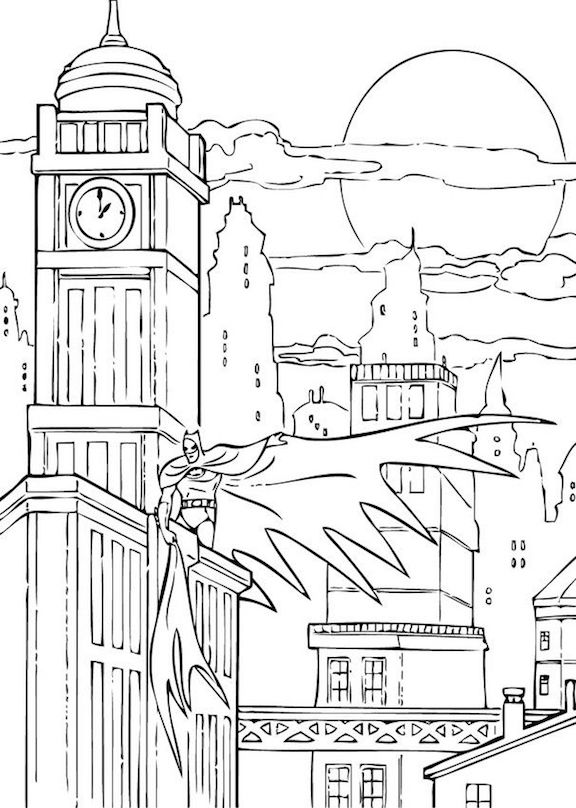 Batman Coloring Pages And Other Coloring Themes