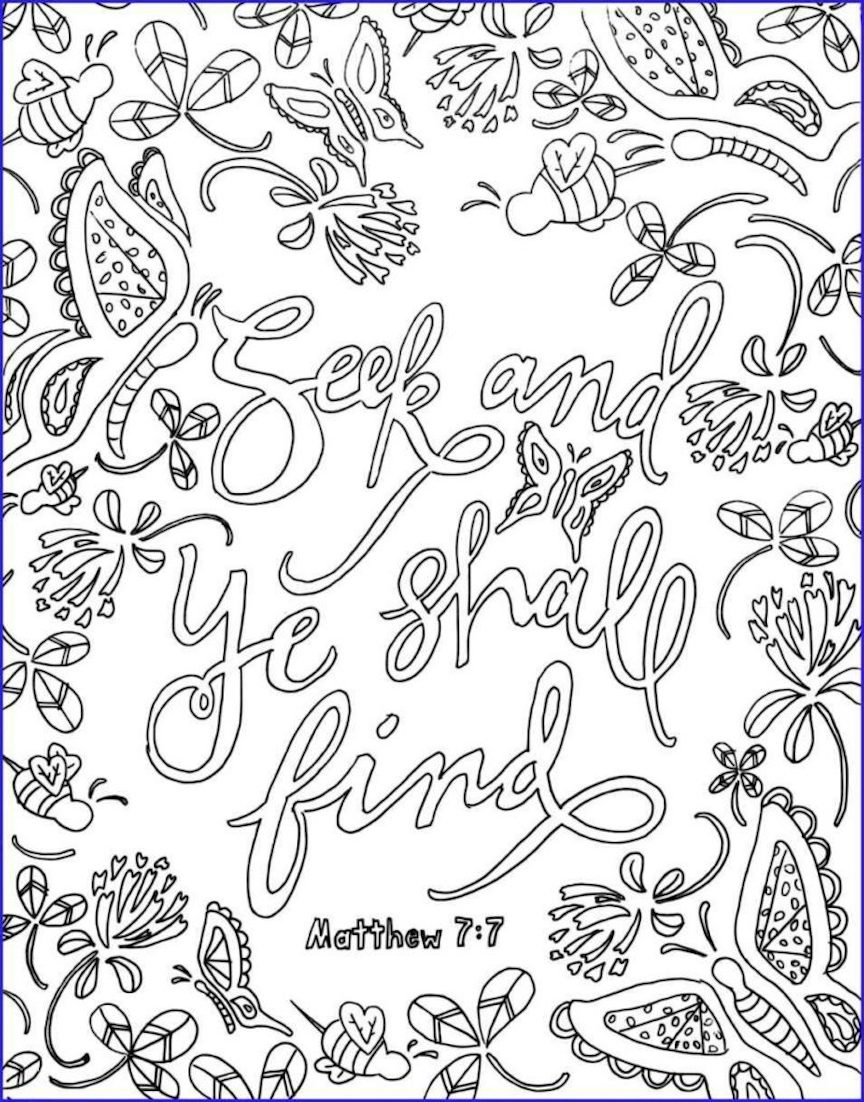 Bible Verse Coloring Pages For All People
