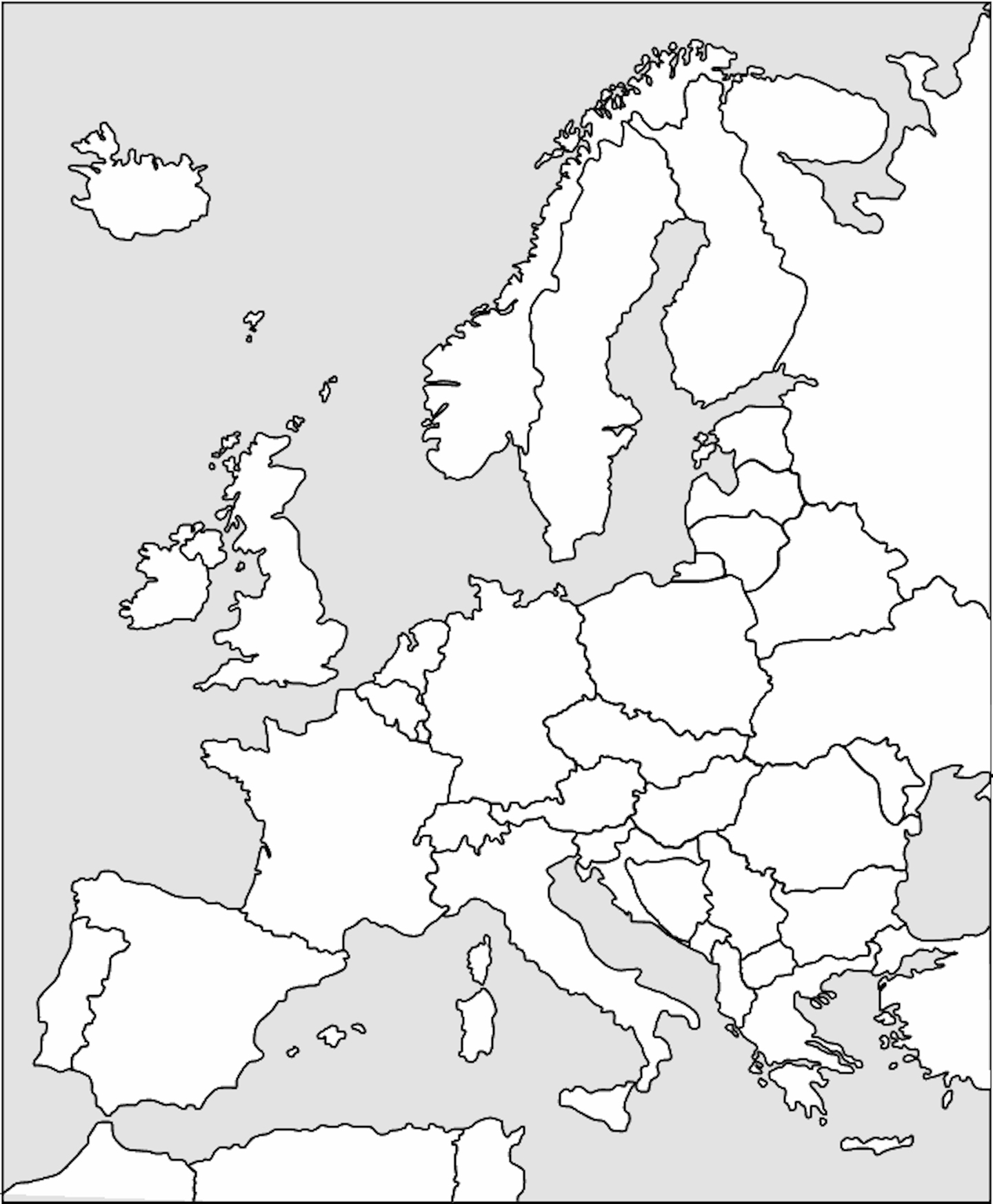 Picture of: International Blank Map Outlines And Free Printable Coloring Pages