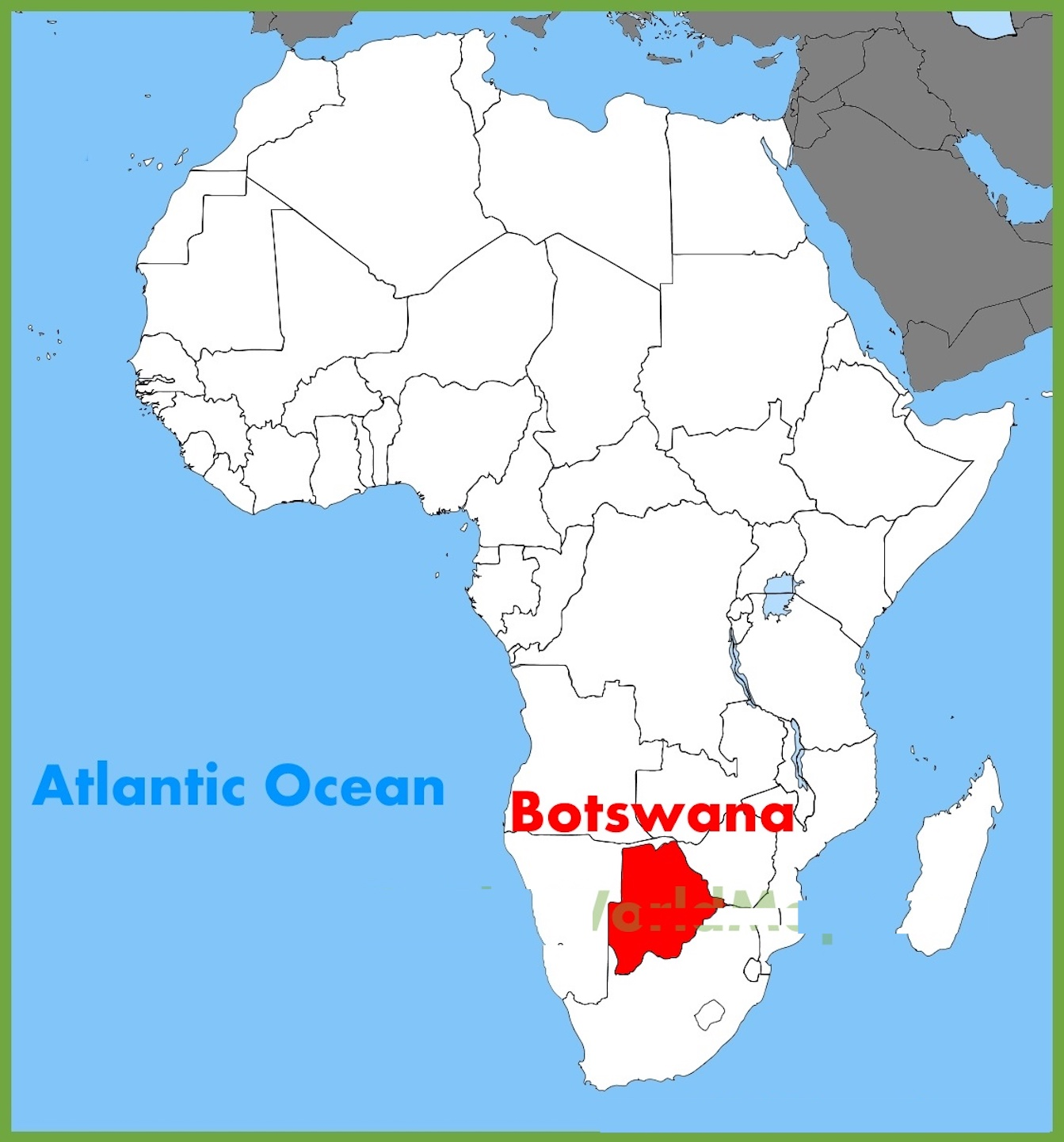 botswana on a map Botswana Map And Other Free Printable International Maps And Flags botswana on a map