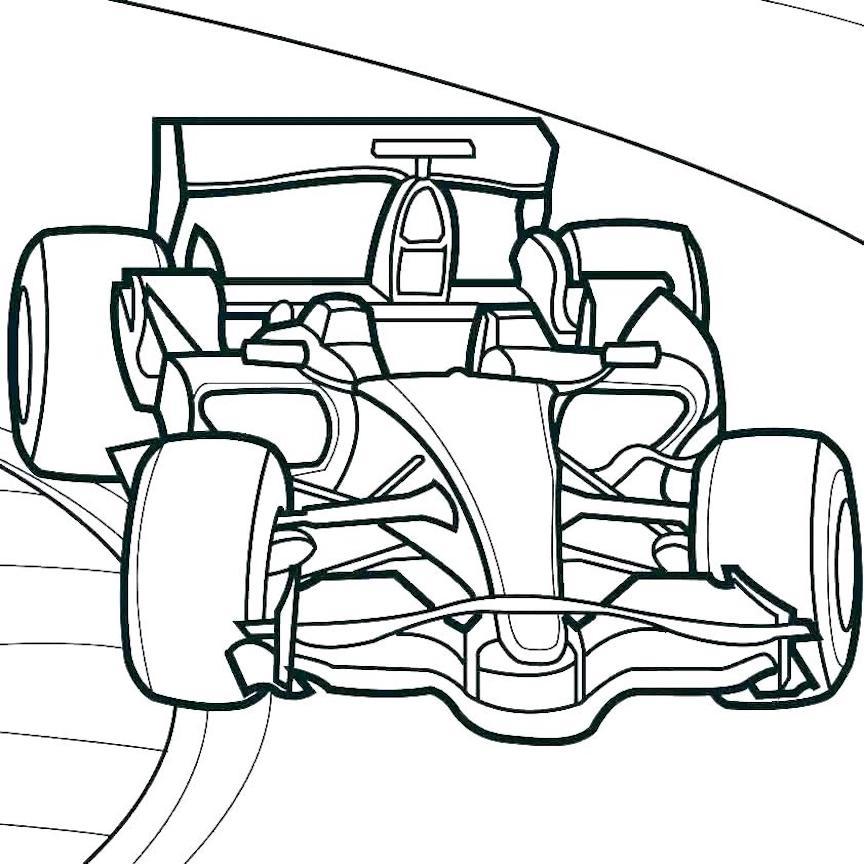 Race Car Coloring Pages And Dozens More Free Printable Coloring Themes