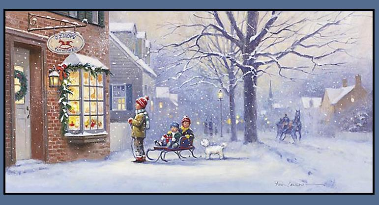 Christmas snow scenes Christmas card scenes to paint