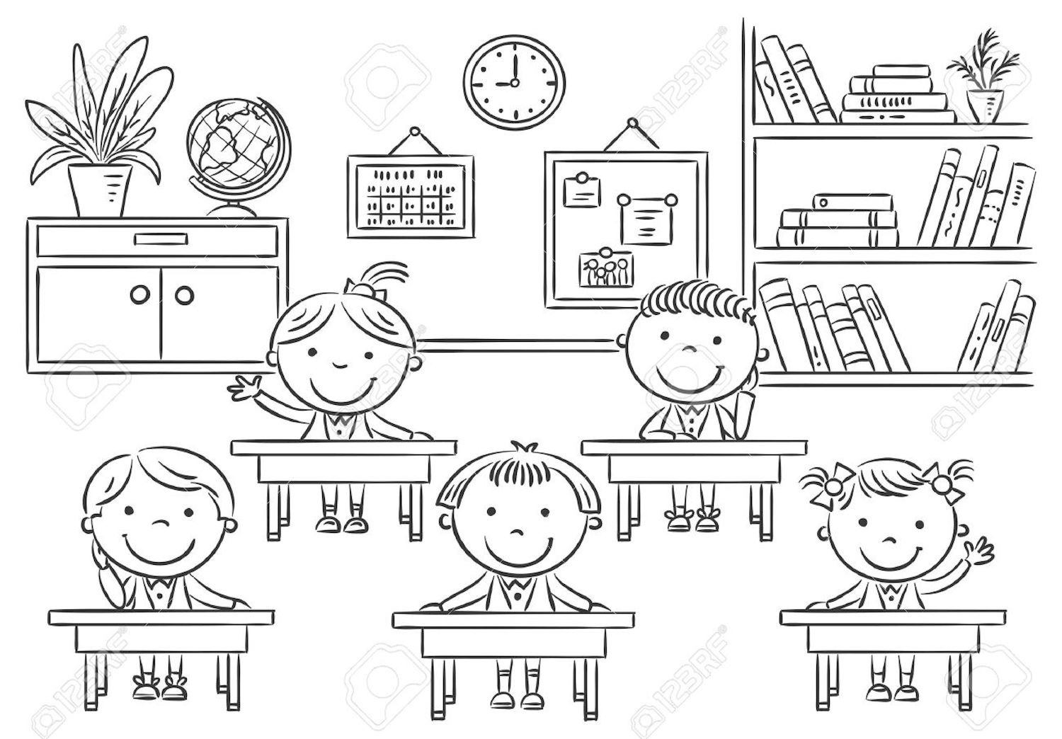 Teacher Coloring Pages - Best Coloring Pages For Kids |My Classroom Coloring Pages
