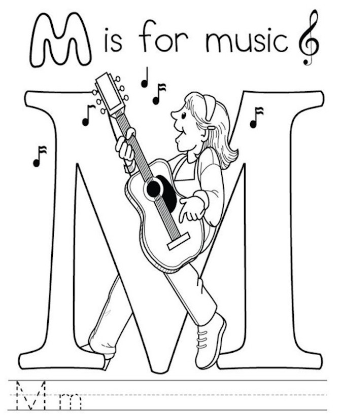 Musical Coloring Pages For Kids - Free And Printable