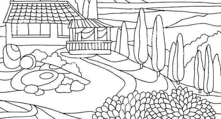 Landscape Coloring Pages Kids Will Love