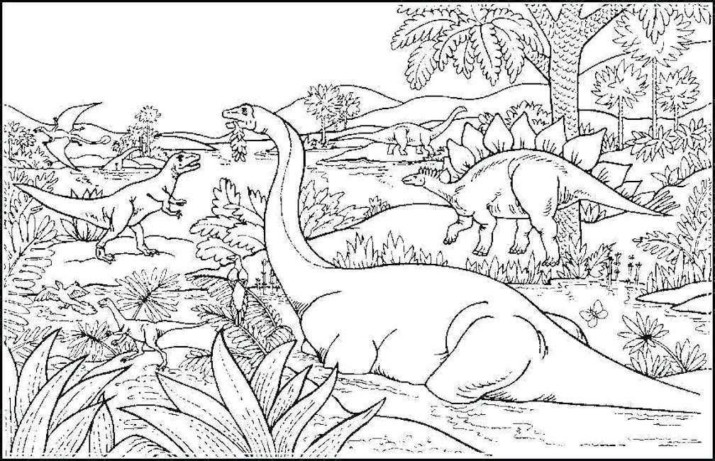 Dinosaur Coloring Pages And Other Free Printable Coloring Themes