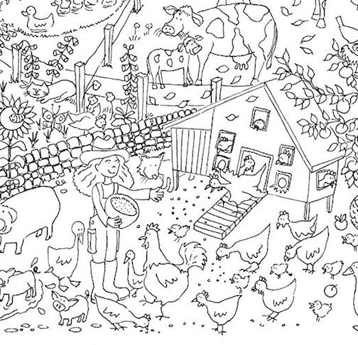 Farm Coloring Pages Free And Printable