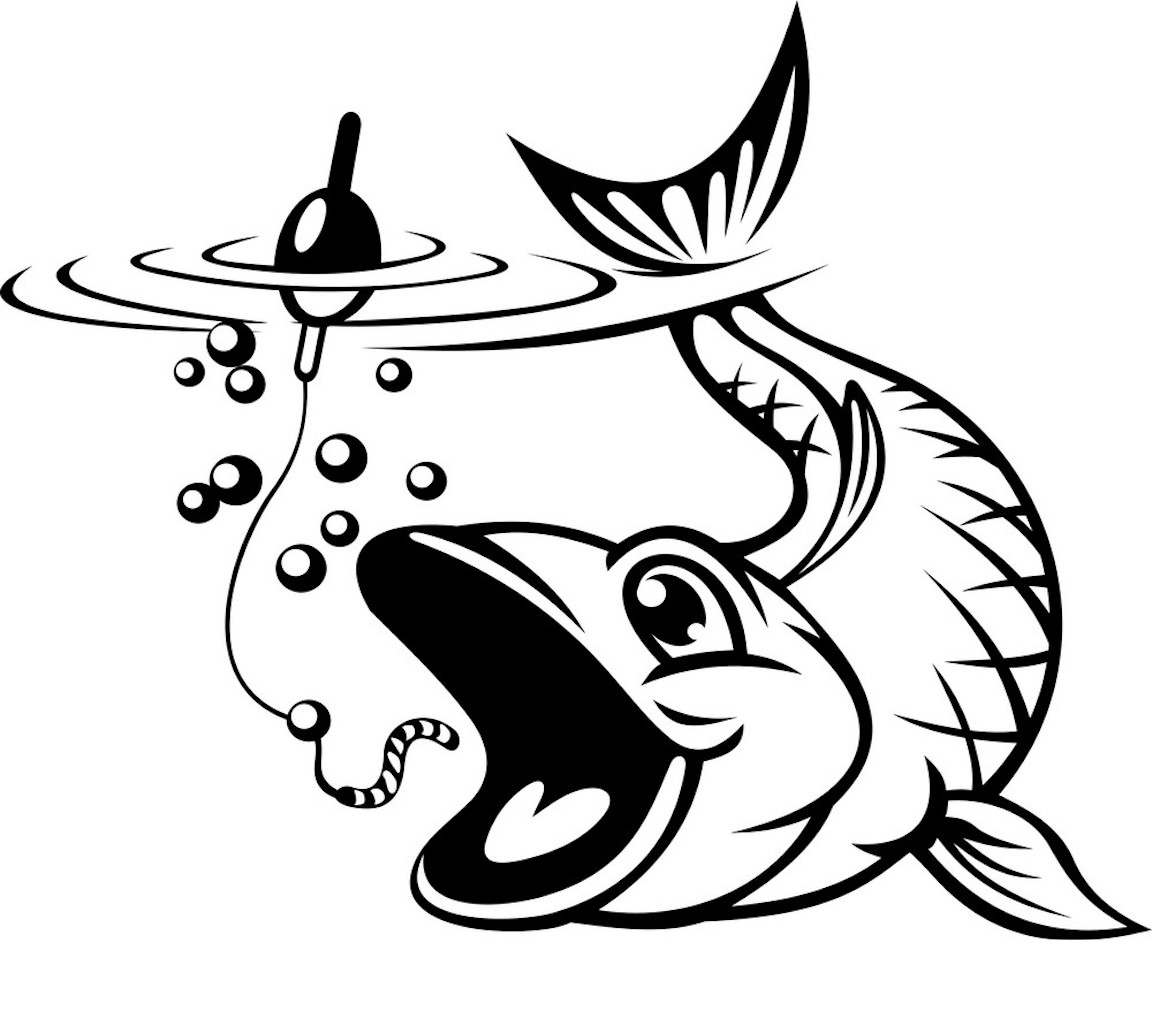 Fishing Clipart Coloring Pages And Other Free Printable Design Themes