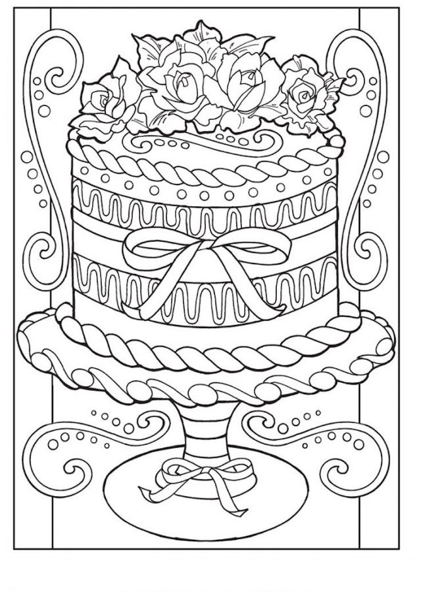 Food Coloring Pages Free Printable