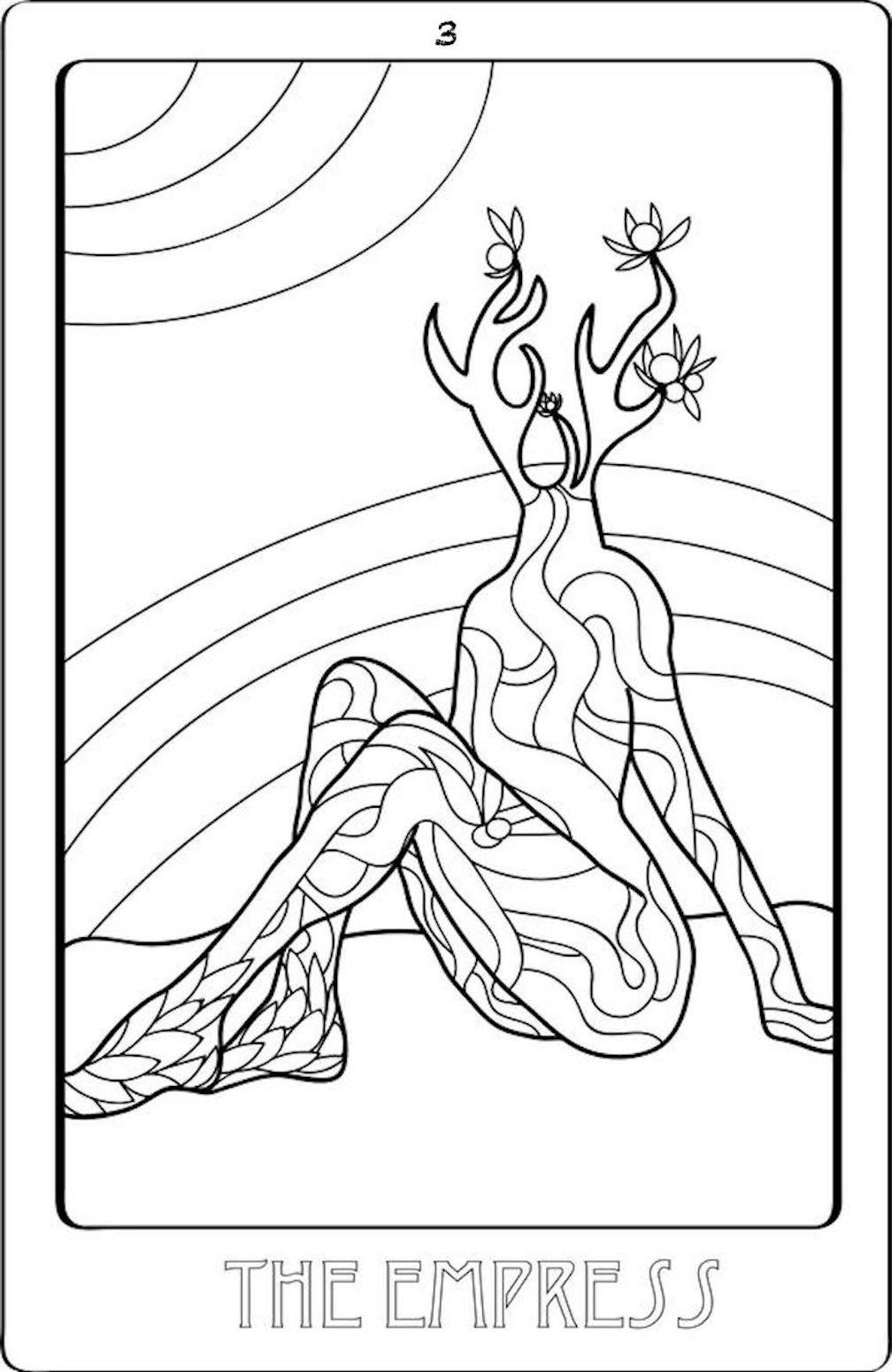 - Free Coloring Sheets: The Art Of Tarot