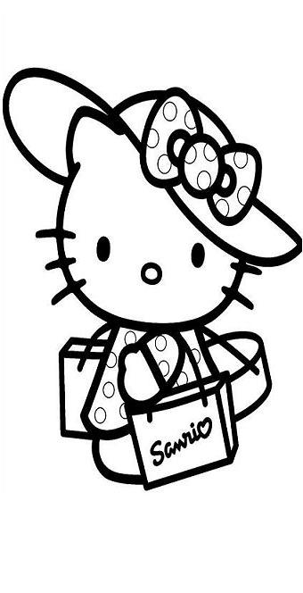 More Free Printable Hello Kitty Coloring Pages