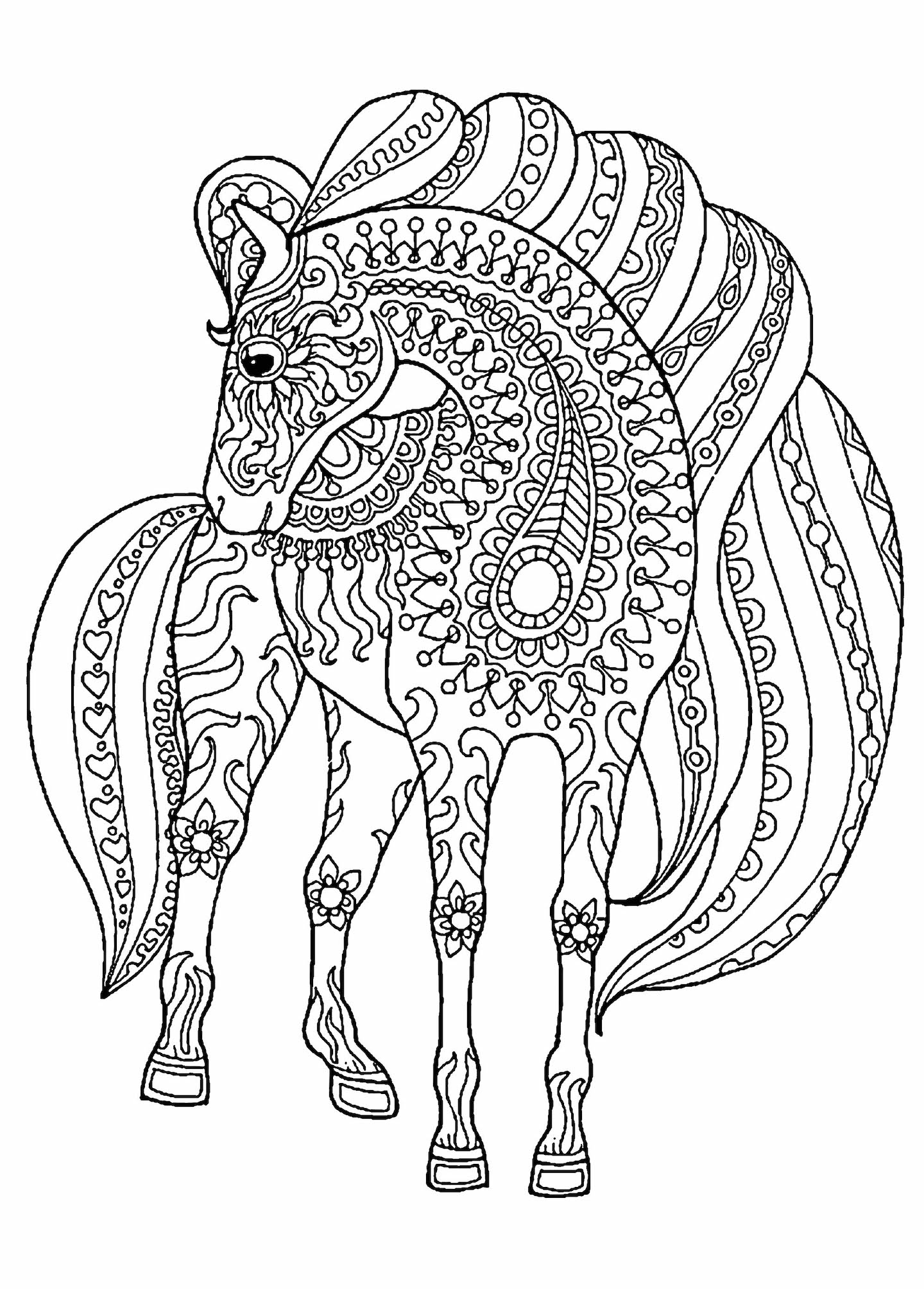 Horse Coloring Pages And Other Free Printable Coloring ...