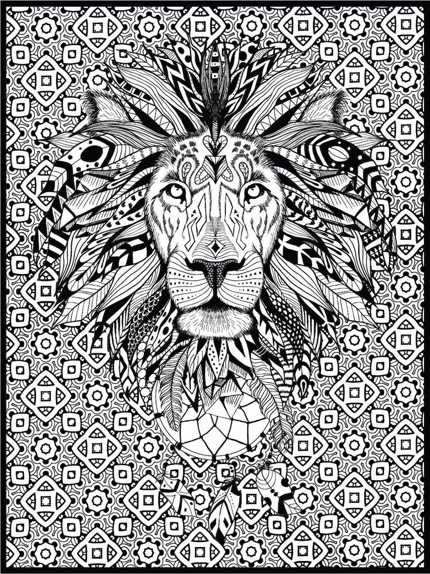 Lion to print for free - Lion Kids Coloring Pages | 1152x864