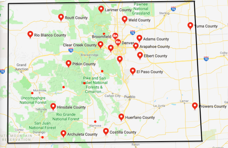 photograph relating to Printable Map of Colorado known as Map Of Colorado Counties Free of charge And Printable