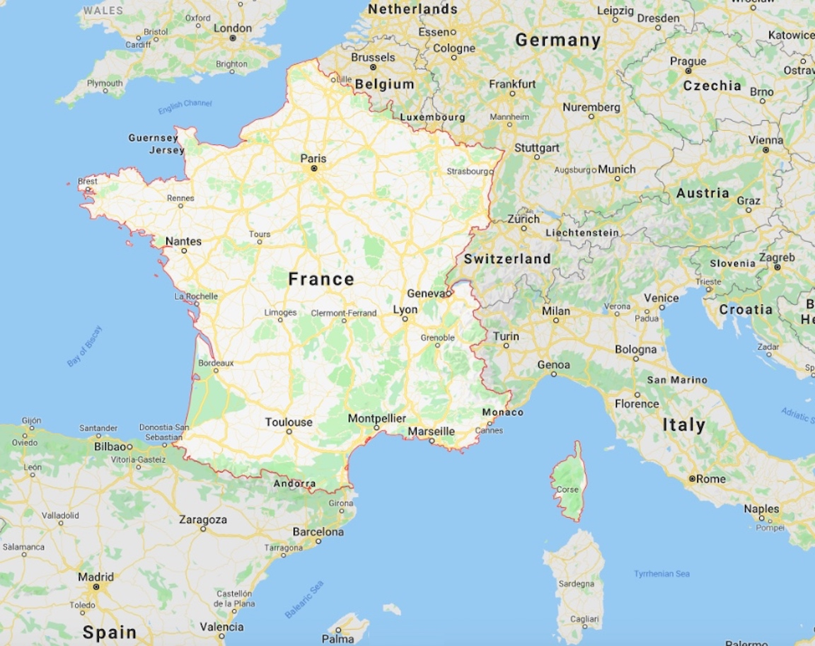 Map Of France Google Maps.Map Of France And Hundreds More Free Printable International Maps