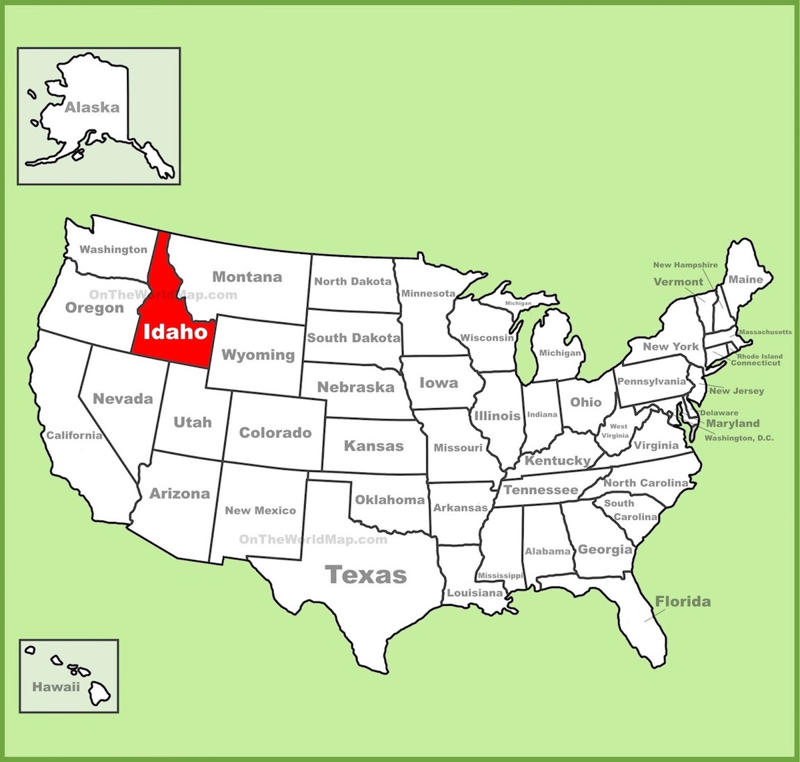 photograph about Printable Map of Idaho named Cost-free Printable Map Of Idaho
