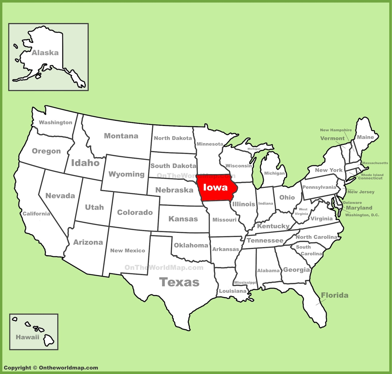 photograph relating to Printable Map of Iowa named Map Of Iowa Counties Absolutely free And Printable