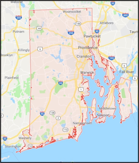 Map Of Rhode Island And Other Free Printable Maps