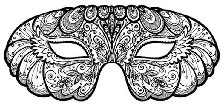 Printable Mardi Gras Coloring Pages For Kids | 359x750