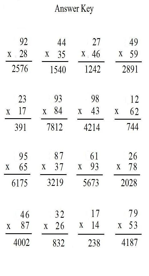 exit free math worksheets return to main page