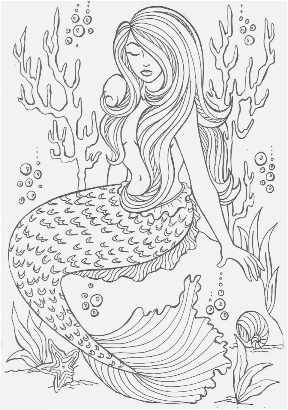 Mermaid Coloring Pages And Many Dozen More Top 10 Coloring ...