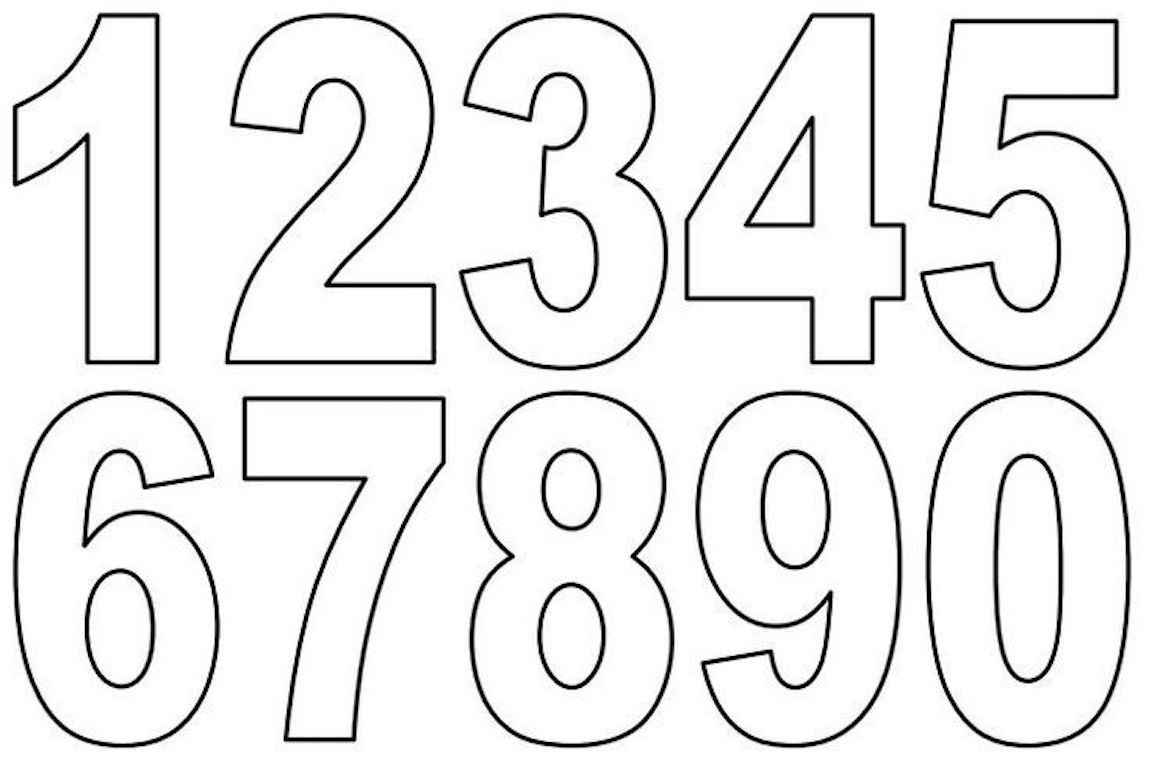 numbers clipart coloring pages and other free printable design themes numbers clipart coloring pages and