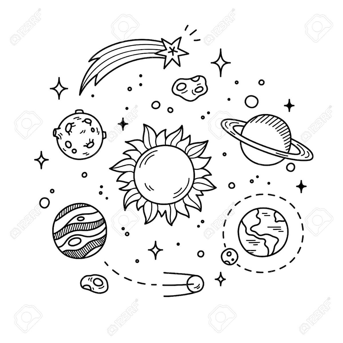 Outer Space Coloring Pages And