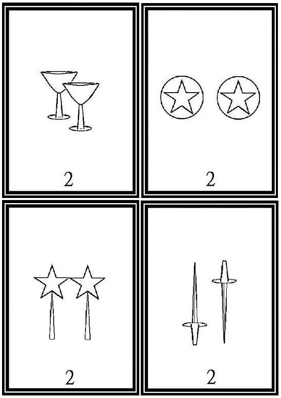 This is a picture of Hilaire Printable Tarot Cards to Color