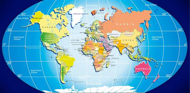 photograph about Printable World Ma called Printable Global Map and Other Maps