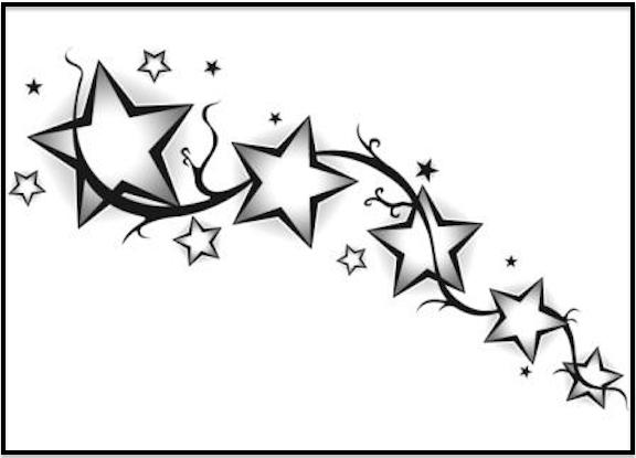 Shooting Star Tattoo Designs To Bring Good Luck