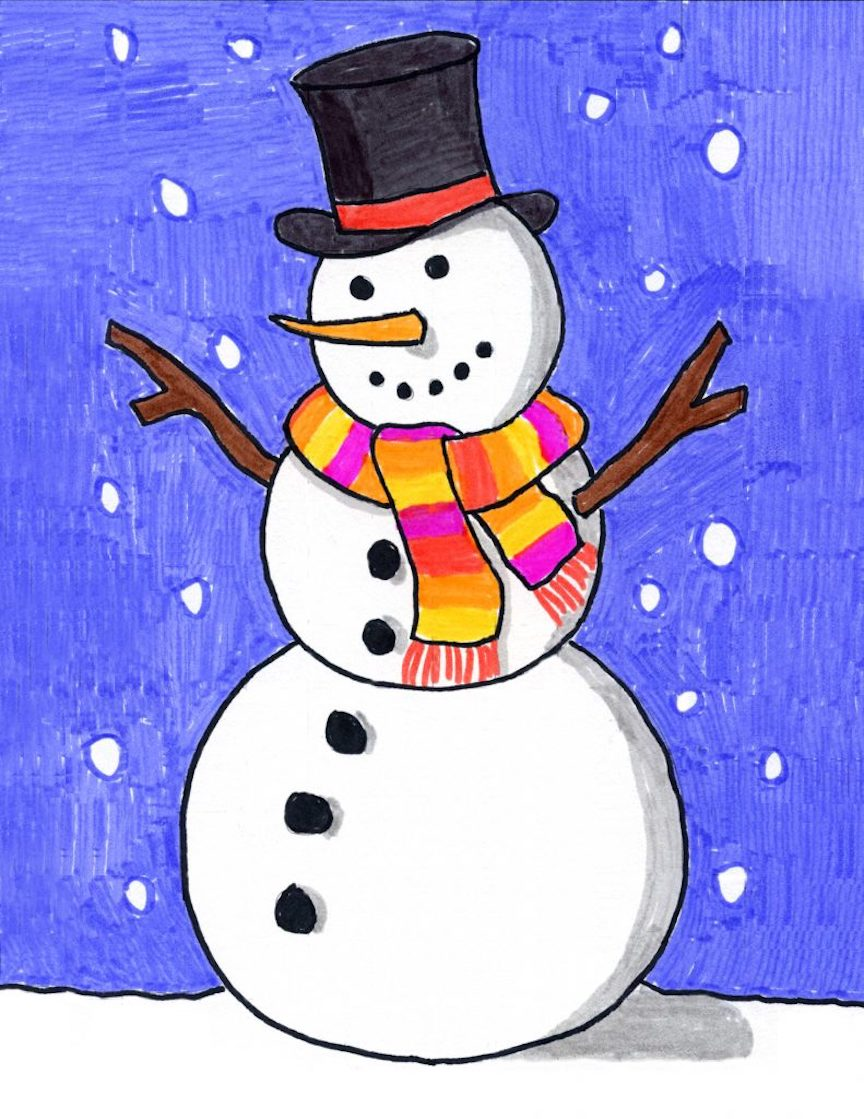Cartoon of Drunken Man Going to Fist Fight With Snowman Clipart | k62946242  | Fotosearch