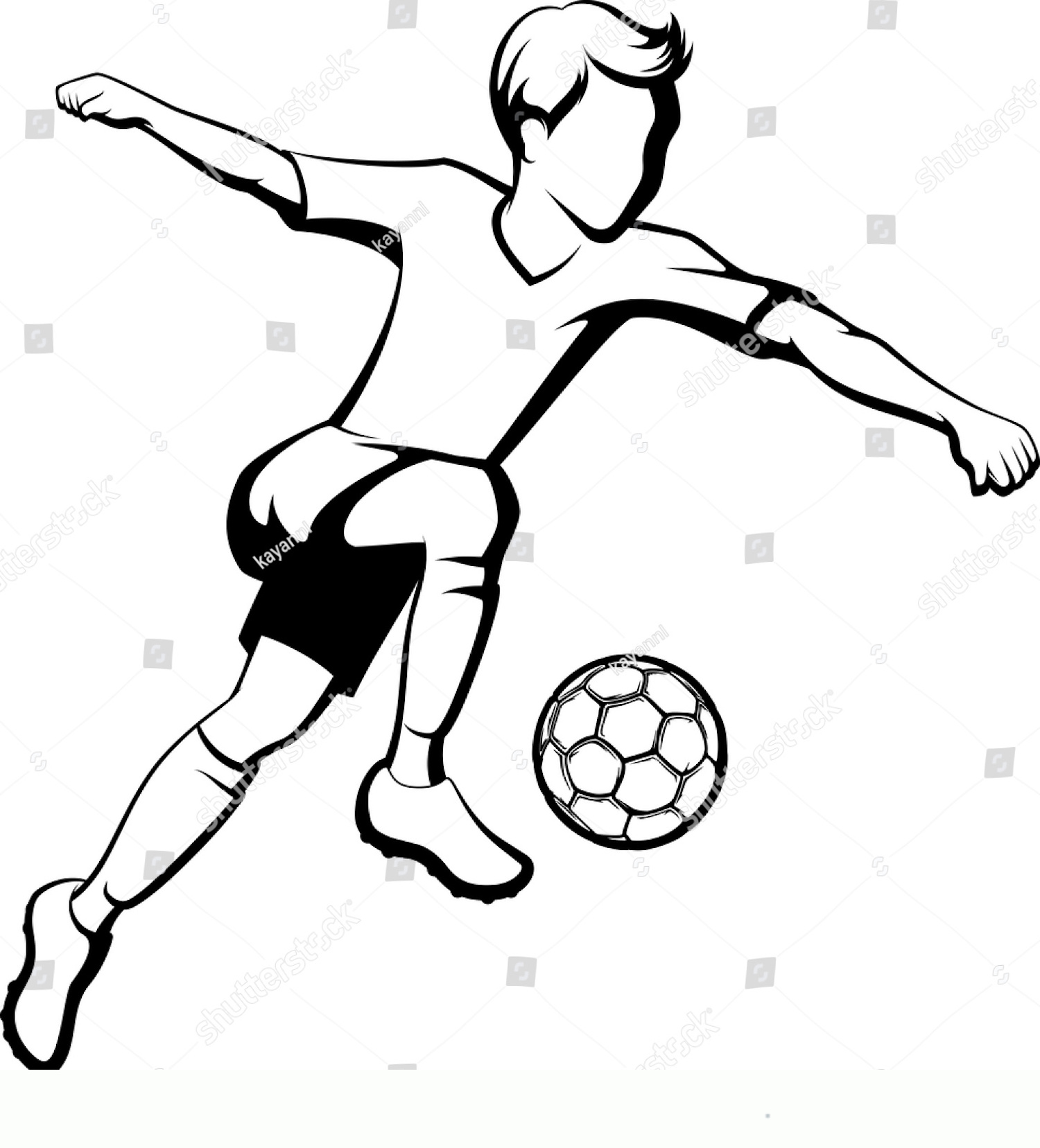 soccer ball coloring pages download and print for free - soccer ... | 1657x1500