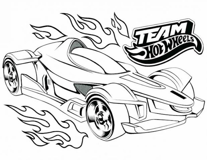 - Sports Car Coloring Pages Free And Printable