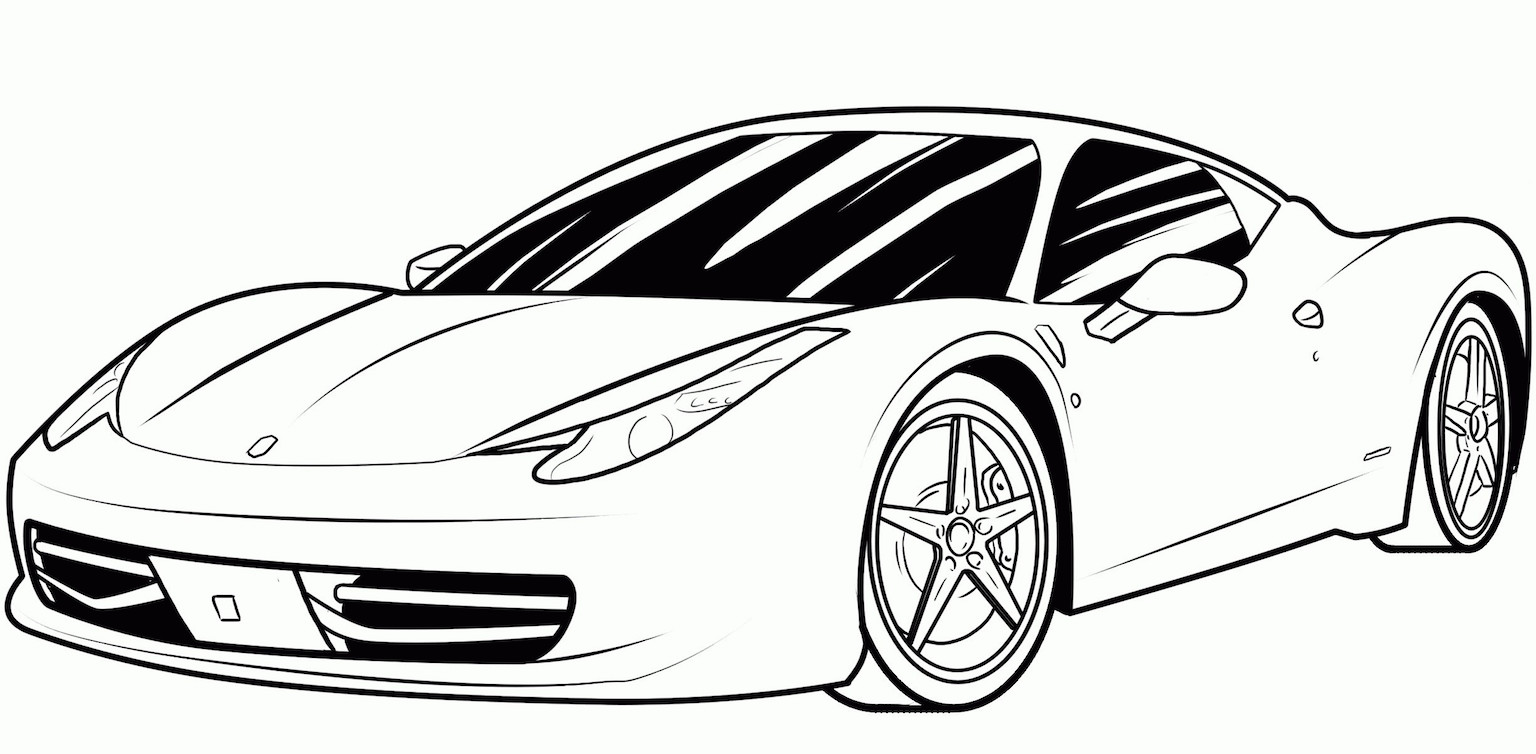 sports car coloring pages free and printable. Black Bedroom Furniture Sets. Home Design Ideas