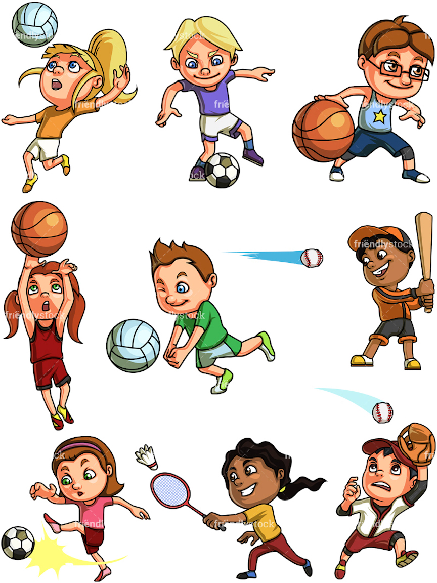 Sports Clipart, Coloring, And Dozens More Free Printable Design Themes