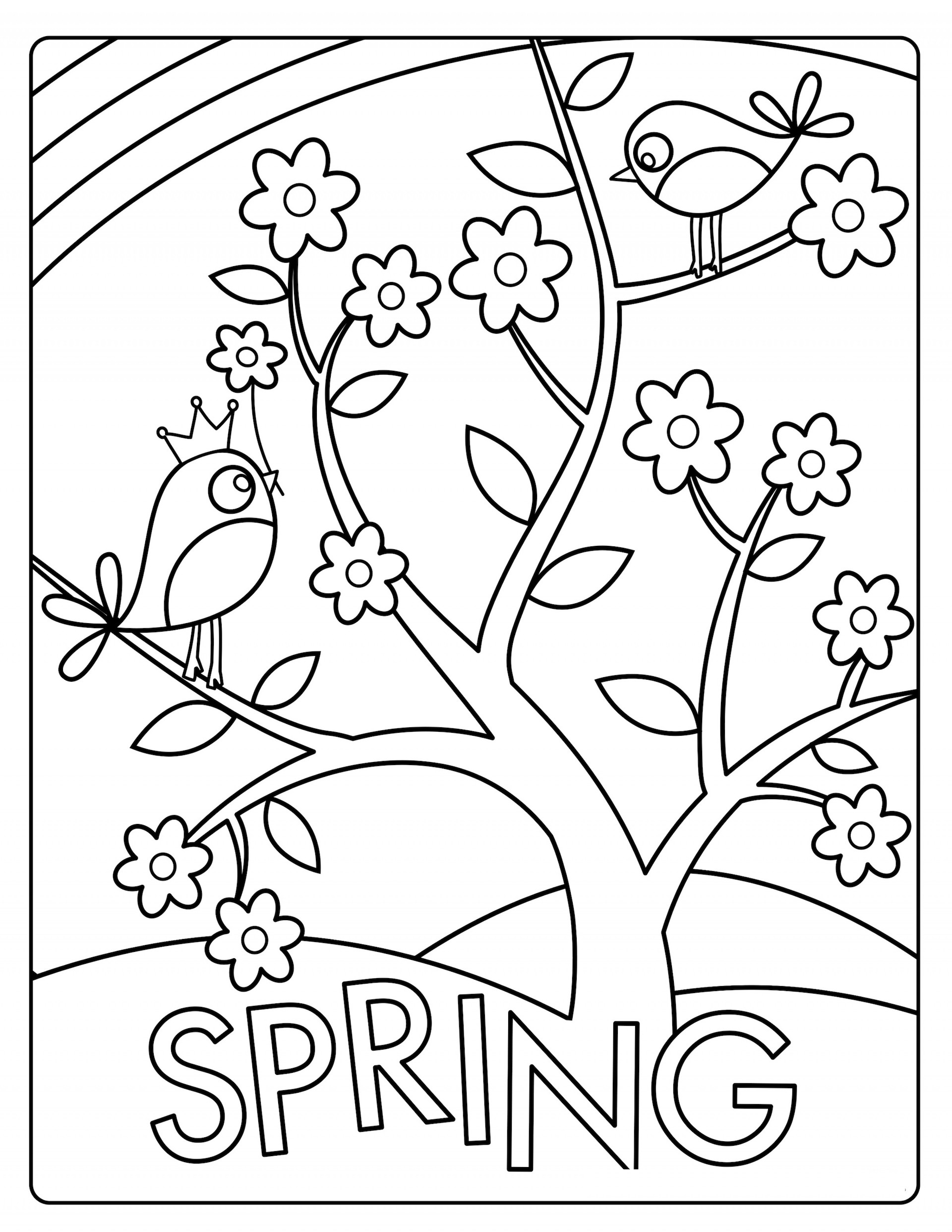Spring Coloring Pages And Dozens More Free Printable ...