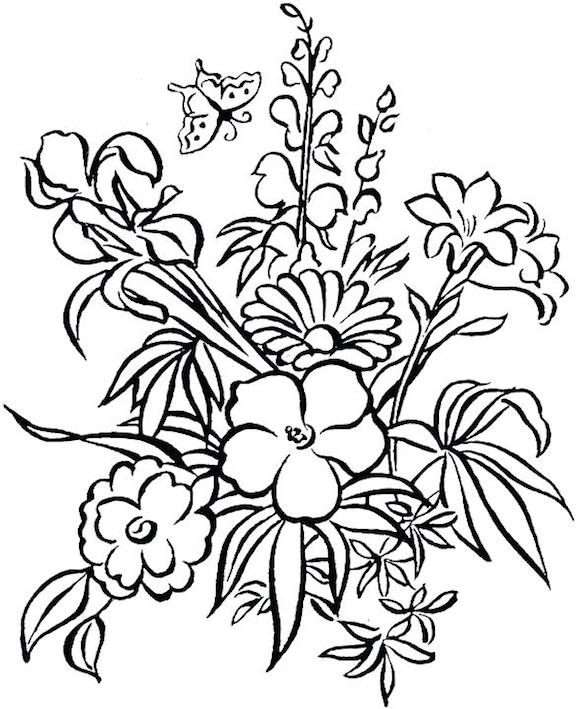 - The Spring Flowers Coloring Page Collection