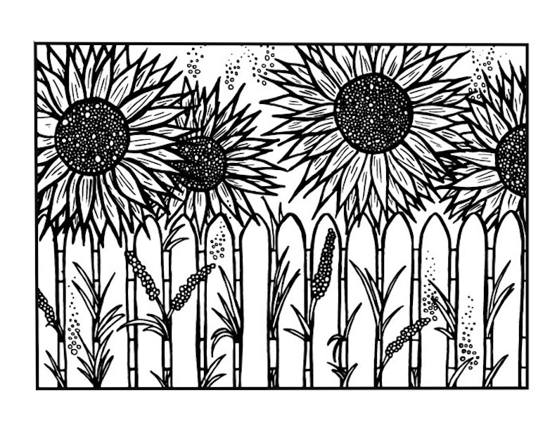 The Spring Flowers Coloring Page Collection