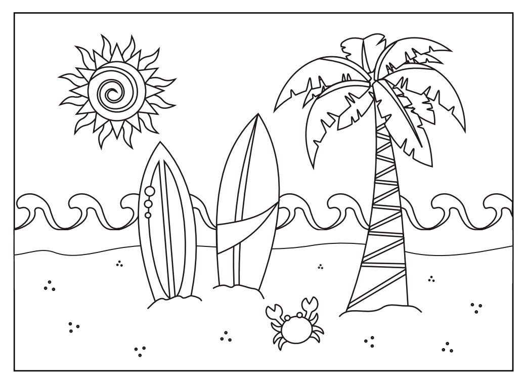Summer Coloring Pages And Dozens More Top 10 Coloring Page Themes