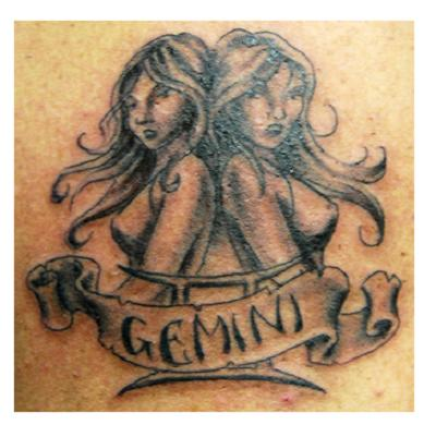 MORE GEMINI TATTOOS (CLIPART)