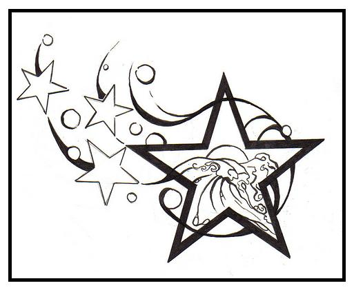SHOOTING STAR TATTOO DESIGNS