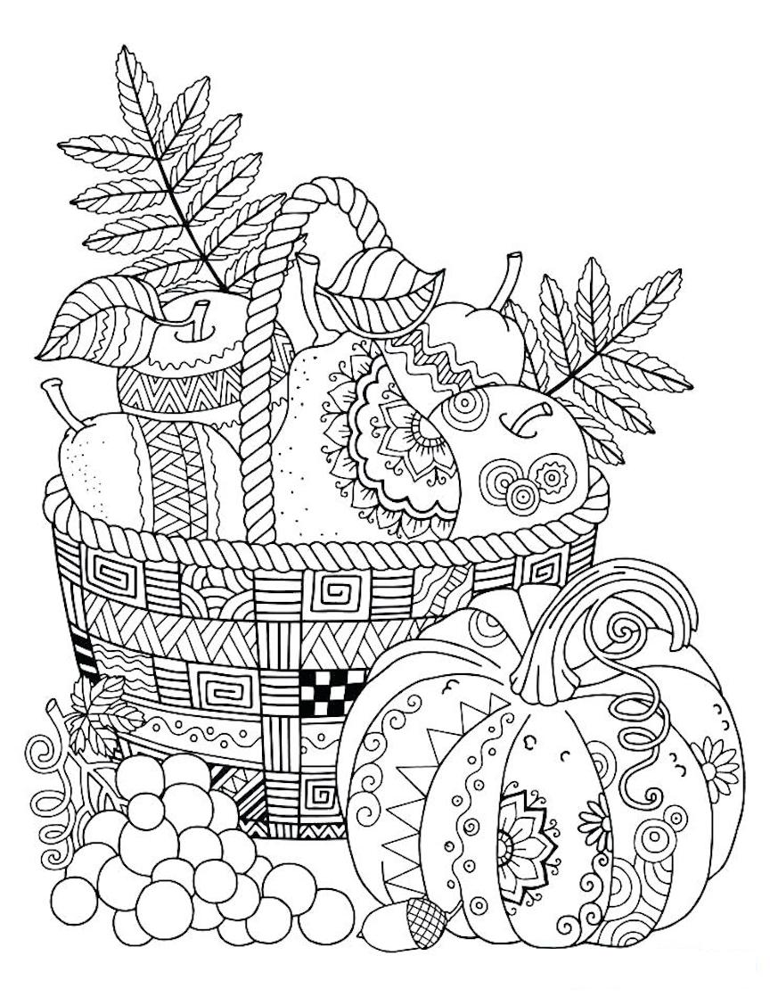 Thanksgiving Coloring Pages And Other Top 10 Coloring Themes