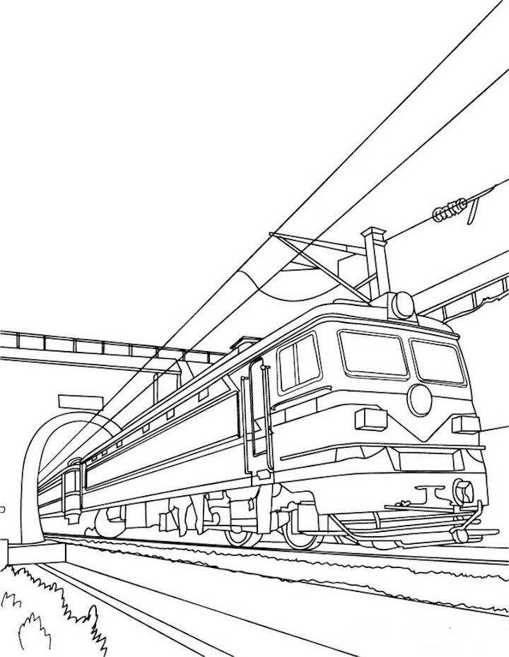 Train Clipart Coloring Pages And Other Free Printable Design Themes